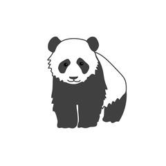 A big  kind panda. Cute black and white bear