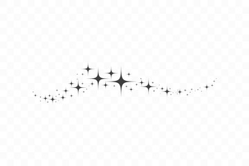 Falling star. Cloud of stars isolated on transparent background. Vector illustration Wall mural