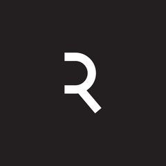 R letter initial icon logo design template