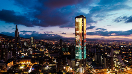 Colpatria Tower, Bogotá, Colombia Fototapete