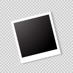 Retro Photo frame. Cute vector illustration.