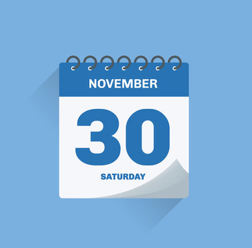 Day calendar with date November 30.