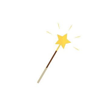 Vector magic wand illustration on white