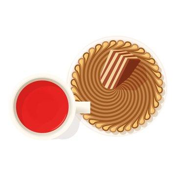 Zebra pie icon. Isometric illustration of zebra pie vector icon for web