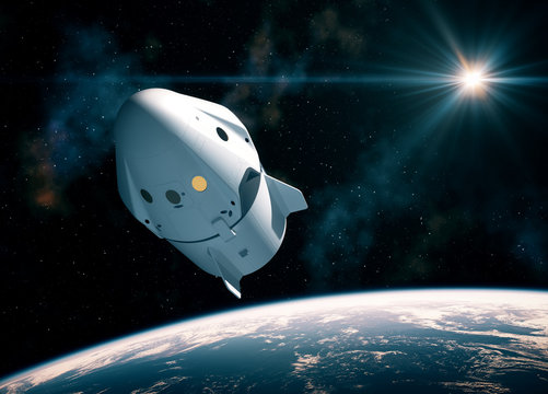 New Commercial Space Capsule Orbiting Planet Earth