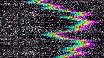 Glitch. Abstract shapes. Chaos. Pixel. Cyberpunk. Computer screen error. Digital design. Pixel noise. Virtual. TV signal fail. Futuristic. Glitch background.
