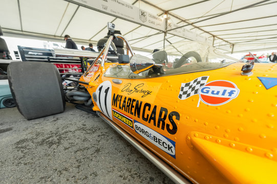 Classic McLaren F1 racing car at the Festival of Speed event held at Goodwood, UK - July 1, 2012
