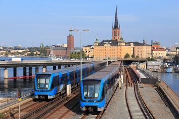 Türaufkleber Stockholm Metro trains in Stockholm