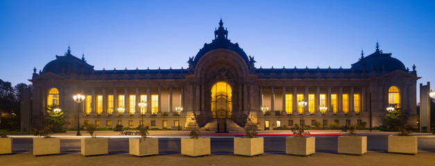 Night view of Petit Palais (Small Palace)