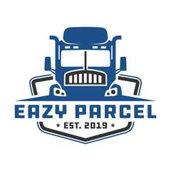 Transportation truck shielding logo design