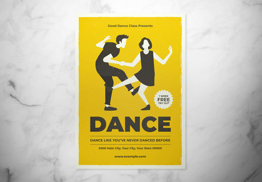 Dance Class Flyer Layout