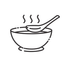 Soup vector illustration with simple line design. Soup icon
