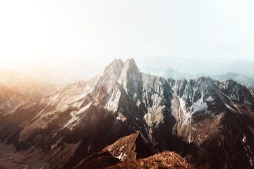 Höfats Mountain in the Bavarian Alps near Oberstdorf