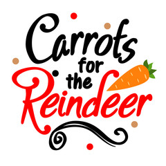 Carrots for the reindeer vector design. Winter stock images. Christmas home decor. Santa cookie plate designs. Holiday sign.