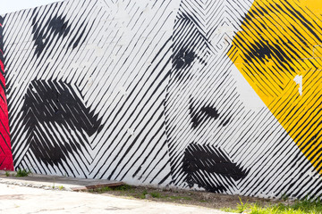 MIAMI, USA - AUGUST 29, 2014 : Graffiti art on wall in graffiti design district Wynwood on August 29, 2014 in Miami, Florida.
