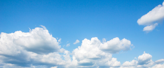 Blue sky with white clouds at day