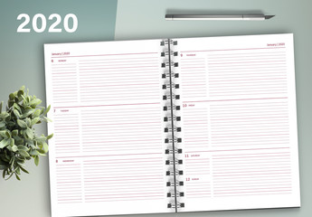 Weekly 2020 Planner Layout