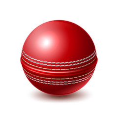 Vector realistic cricket ball for betting promo