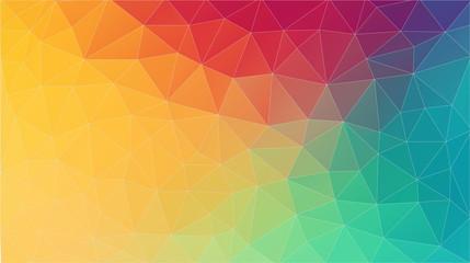 Flat multicolor triangle geometric wallpaper. Futuristic background