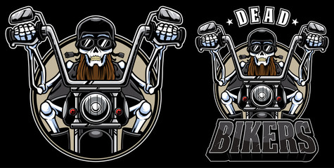 Dead Biker Mascot
