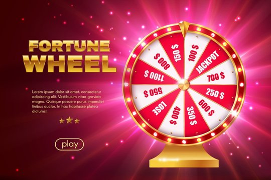 Fortune wheel game landing page 3d template