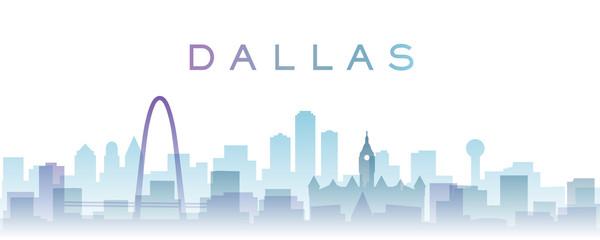 Dallas Transparent Layers Gradient Landmarks Skyline