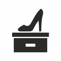 High heel shoe icon. Vector icon isolated on white background.