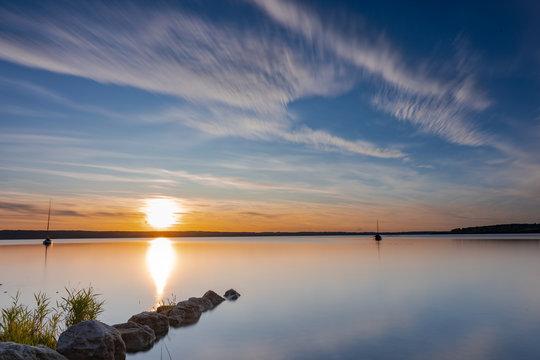 Sonnenuntergang am Ammersee