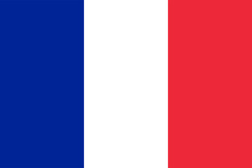france flag with red, white and blue