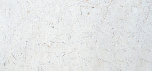 White handmade japanese paper texture background, banner, Mulberry handmade paper in natural seamless pattern surface decorative design for background of backdrop, poster, wallpaper, scrapbook