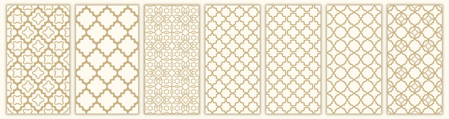 Tuinposter Kunstmatig Islamic seamless pattern with arabic and islamic ornament big set