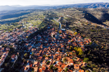 Deurstickers Cyprus Aerial view of Lofou village. Limassol District, Cyprus