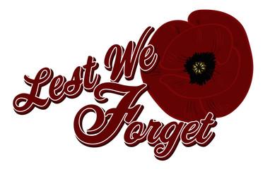 Lest We Forget Poppy