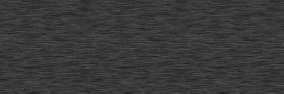 Charcoal Grey Marl Variegated Heather Texture Border Background. Vertical Blended Line Seamless Pattern. Faux T-Shirt Fabric Dyed Organic Jersey Textile Banner. Triblend Melange Banner. Vector Eps 10