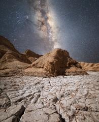 Zelfklevend Fotobehang Diepbruine Atacama Desert Milky Way