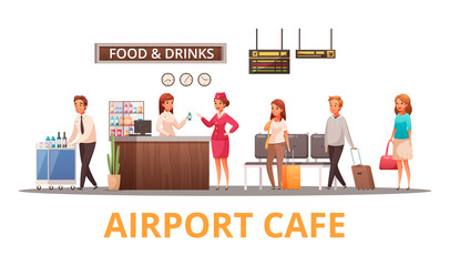 Airport Cafe Illustration