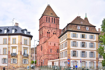 Wall Murals Strasbourg, France - May 2019. Traditional half-timbered houses in the center old city Strasbourg. Amazing colorful houses in La Petite France, Alsace. Beautiful view of the historic town Strasbourg