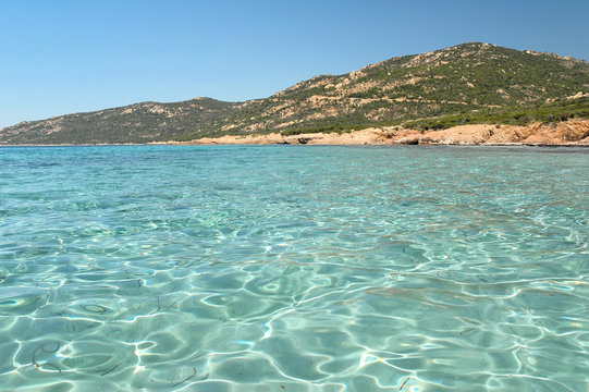 Beach of southern Corsica, France