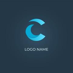 C alphabet logo design vector