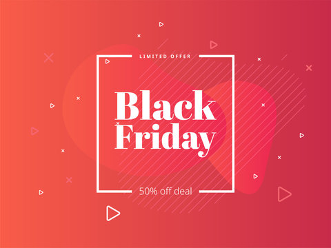 Black Friday sale poster. Commercial discount event banner. Social media web banner for shopping, sale, product promotion. Vector backgrounds. Applicable for covers, placards, posters, flyers