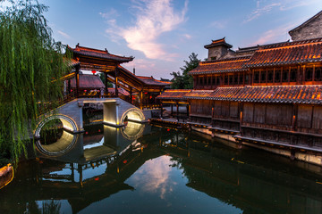 Taierzhuang is located in Zaozhuang in Shandong, is the largest water town in China. Historically, it was an important hub along the Grand Canal, China.