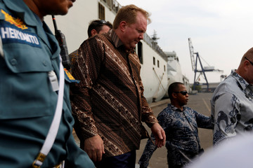 CEO of Boeing Commercial Airplanes Stan Deal stands walks after attending one-year commemoration of the Lion Air JT-610 which crashed at Java sea, in Jakarta