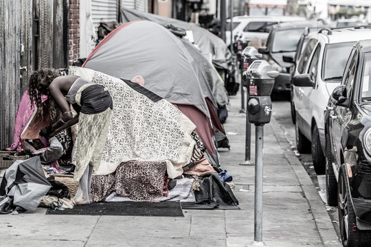 skid row in los angeles, california