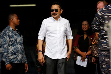 Co-Founder of Lion Air Group Rusdi Kirana stands as he attends one-year commemoration of the Lion Air JT-610 which crashed at Java sea, in Jakarta