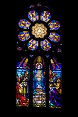Belle-Ile-en-Mer. Vitrail de l'église Saint-Géran. Le Palais. Morbihan. Bretagne