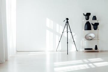 Flash photo studio accessories photographer equipment interior