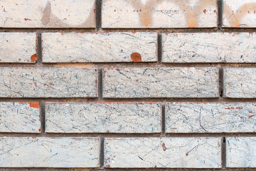 Wall Mural - Weathered white brick wall background