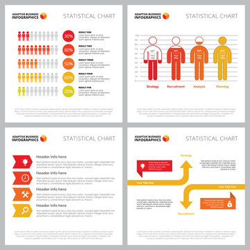 Creative infographic set for population or demography concept