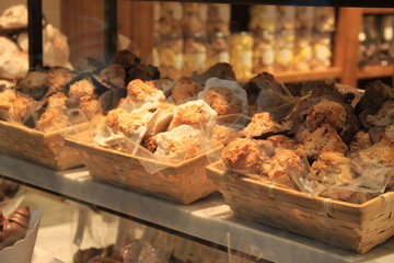 Pâtisseries en vitrine