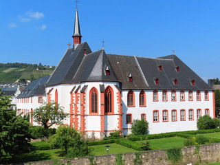Ancient St. Nikolaus hospital known as Cusanusstift in Bernkastel-Cuez Moselle Valley Germany.